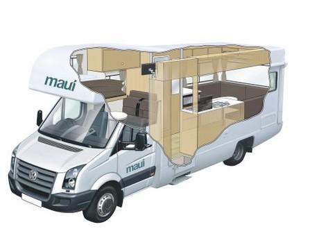 camper und wohnmobile von maui motorhome neuseeland g nstig mieten wohnmobilheimvermieter. Black Bedroom Furniture Sets. Home Design Ideas